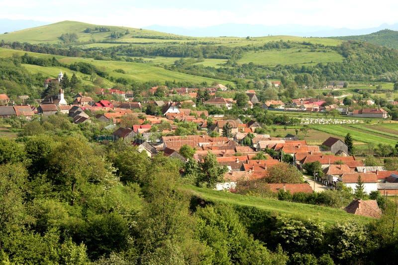 Un village roumain avec l'histoire énorme image libre de droits