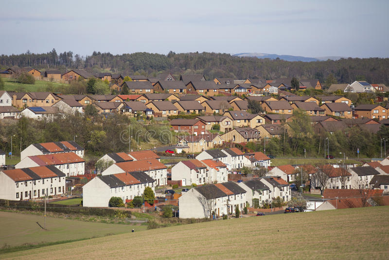 Un villaggio in Alloa Scozia immagini stock libere da diritti