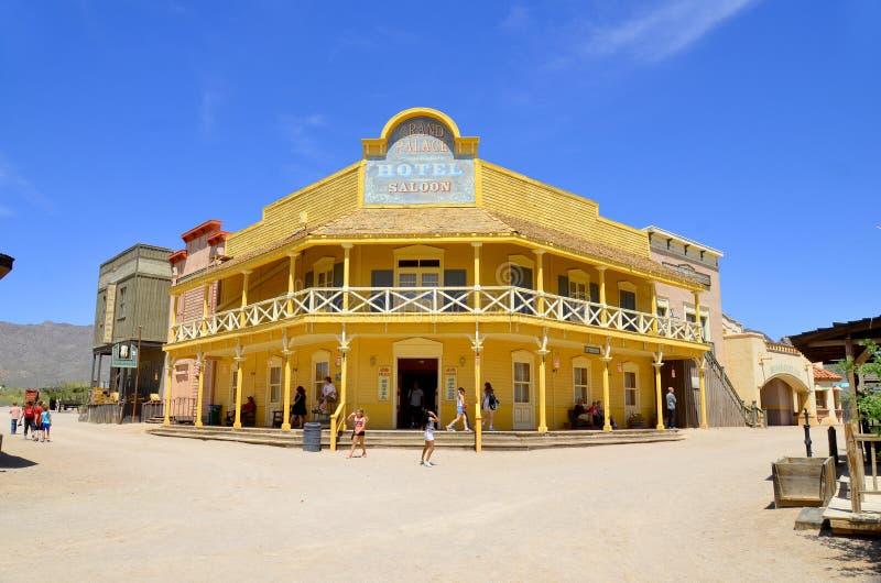 Un villaggio d'annata di vecchio Tucson immagine stock libera da diritti