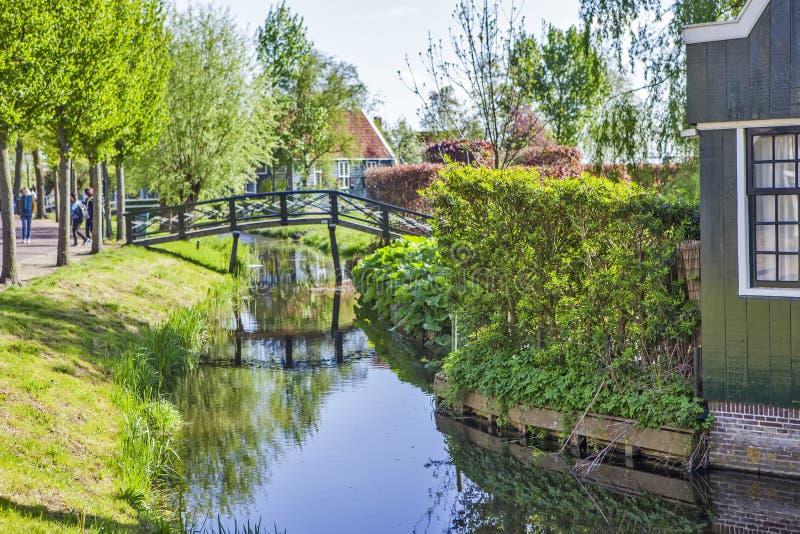 Un villaggio etnografico pittoresco Zanes-Schans netherlands immagine stock