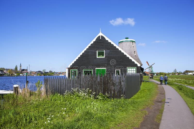 Un villaggio etnografico pittoresco Zanes-Schans netherlands immagine stock libera da diritti