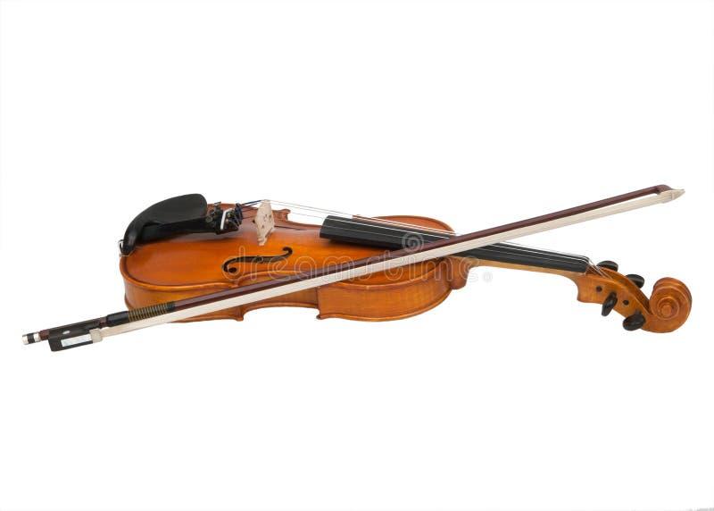 Un violino e un arco immagini stock