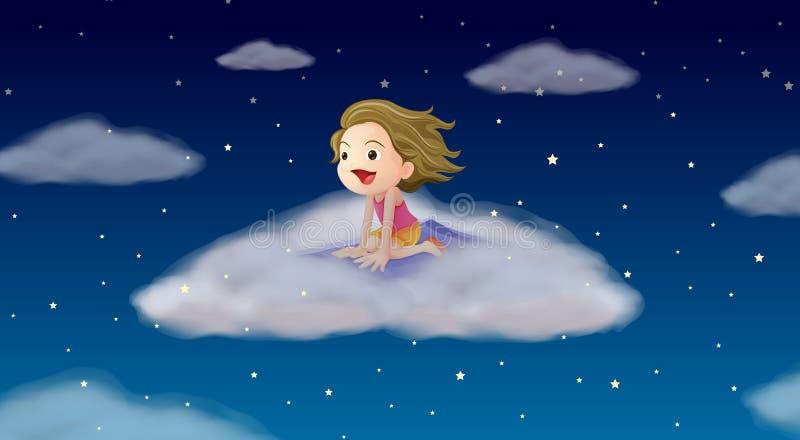 Un vol de fille sur le couvre-tapis illustration libre de droits