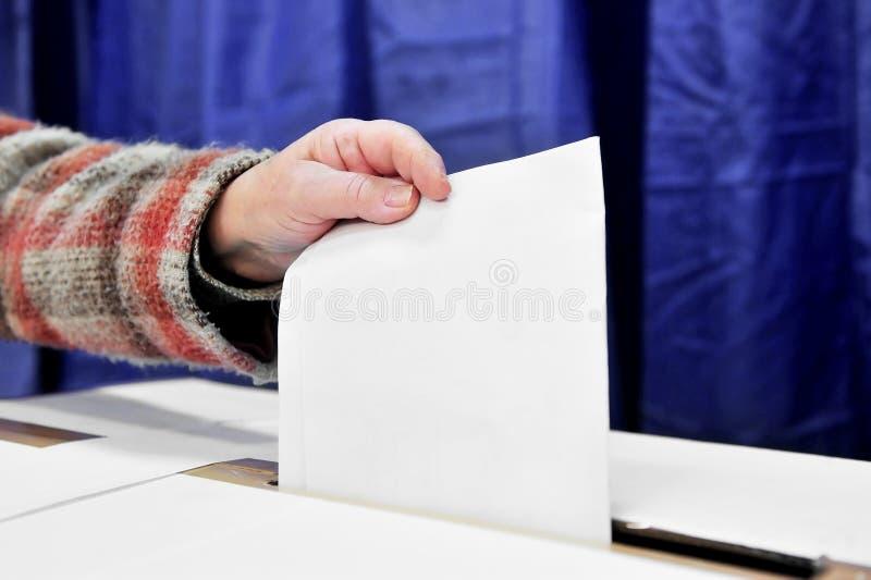 Un voto fotografia stock libera da diritti