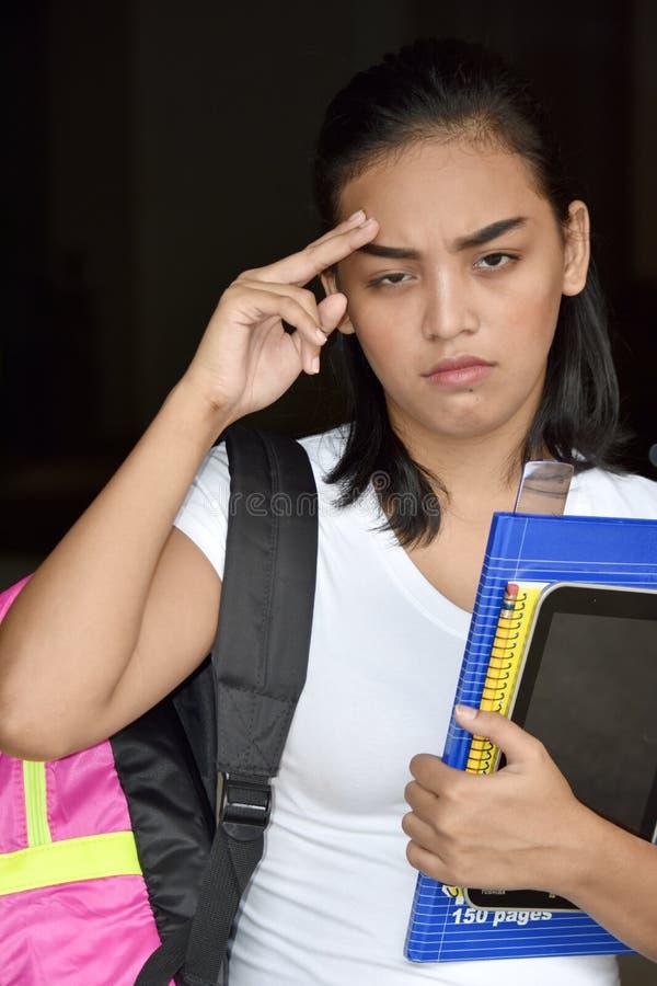 Un voyant Girl Student photographie stock libre de droits