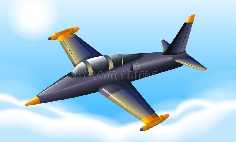 Un vuelo del avión de combate stock de ilustración