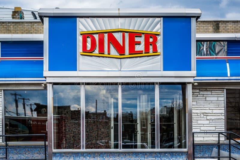 Un wagon-restaurant à Philadelphie du sud, Pennsylvanie photo stock