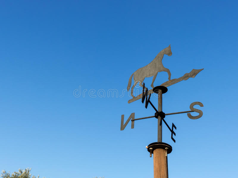 Un weathervane de cheval photos libres de droits