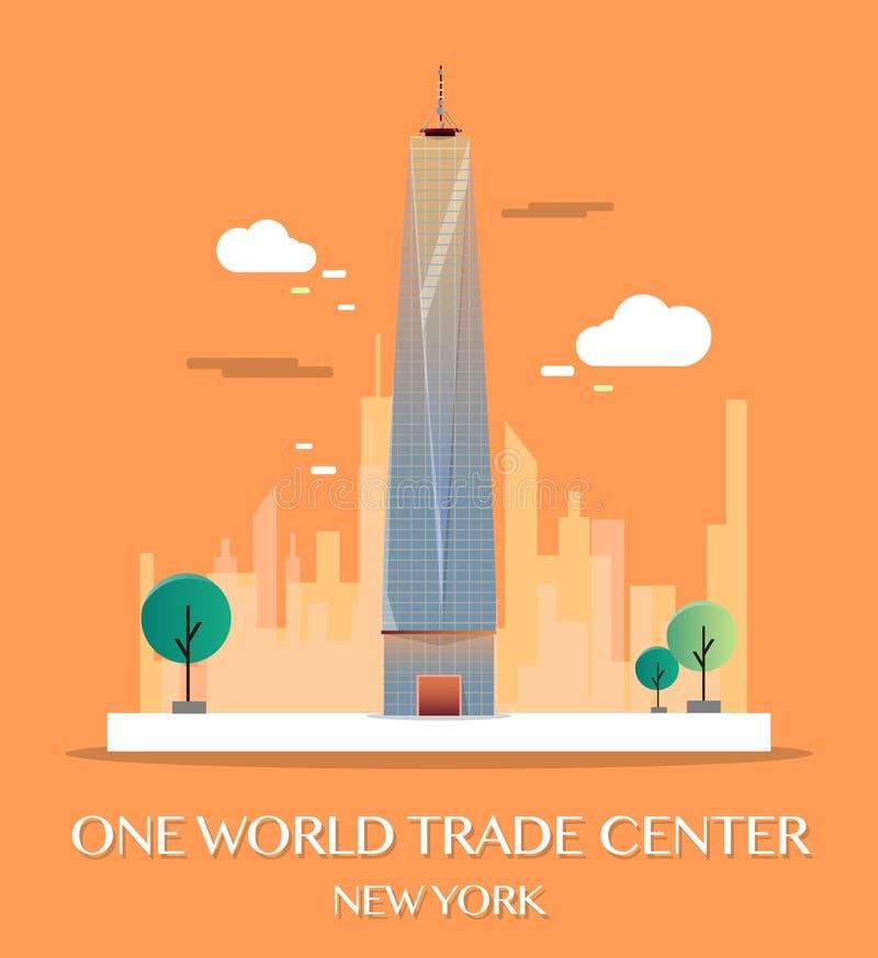 Un World Trade Center Illustration de vecteur illustration libre de droits