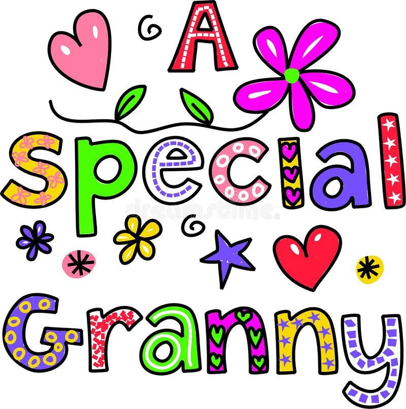 Una abuelita especial libre illustration