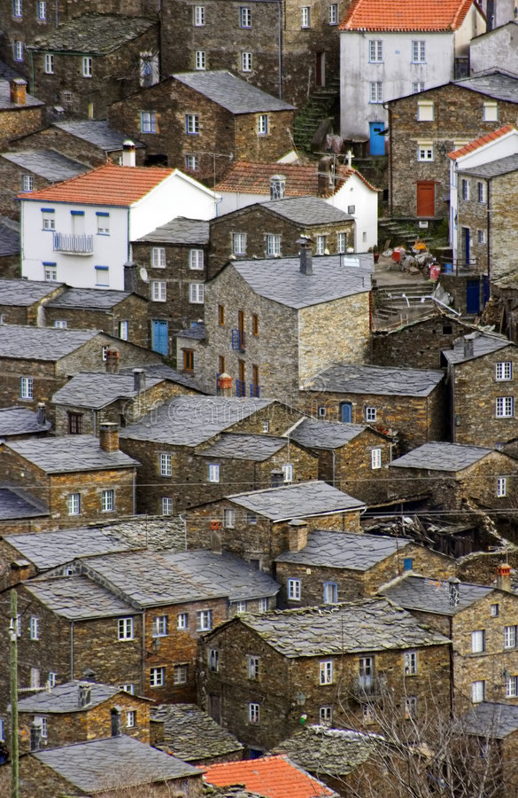 Una aldea verdadera de la Navidad? imagen de archivo