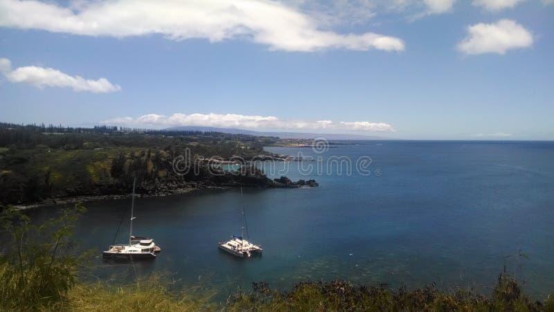 Una bahía cerca de Lahaina, Maui, Hawaii fotos de archivo