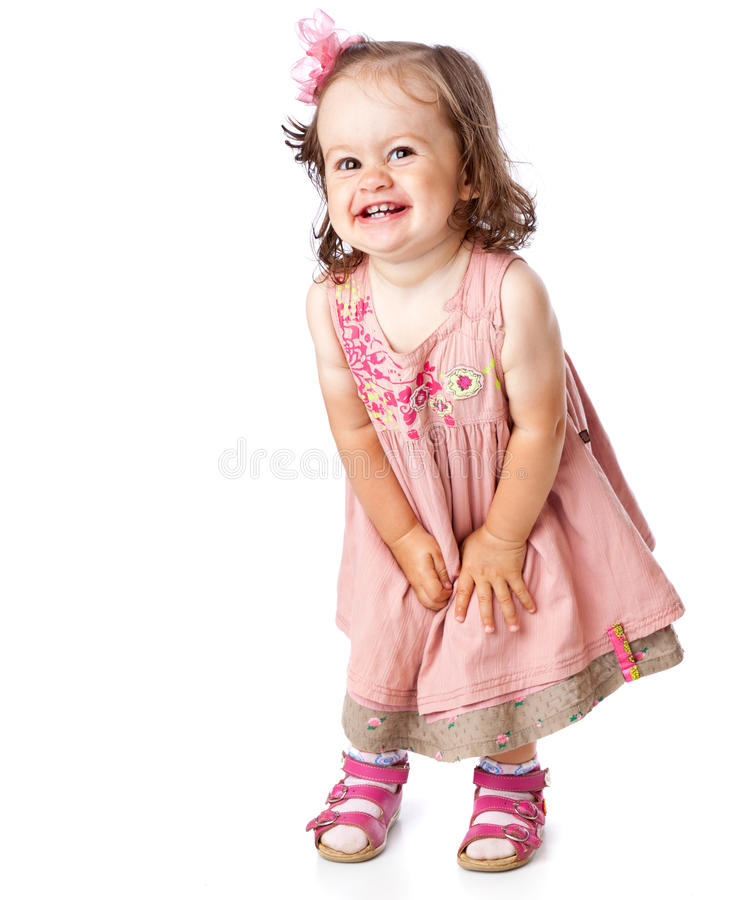 Una bambina sta proponendo immagine stock libera da diritti