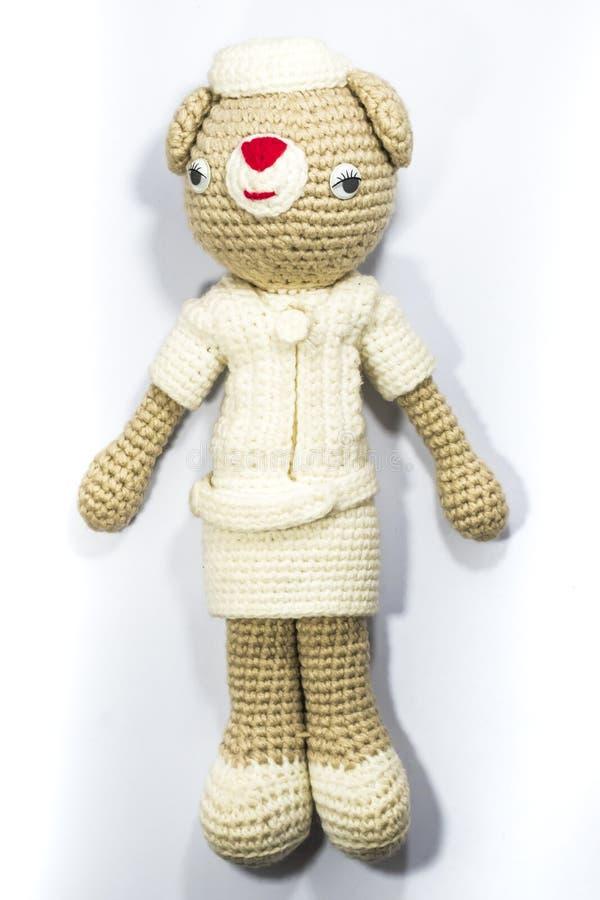 Una bambola sveglia dell'infermiere fotografia stock