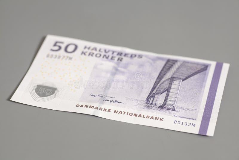 una banconota di 50 corone danesi immagini stock libere da diritti