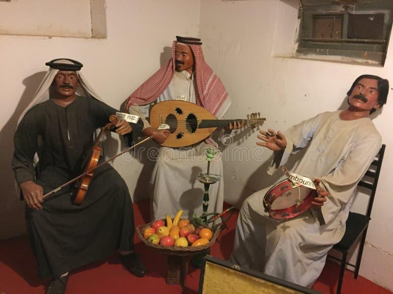 Una banda musicale dei beduini tradizionali dal mondo arabo fotografia stock libera da diritti