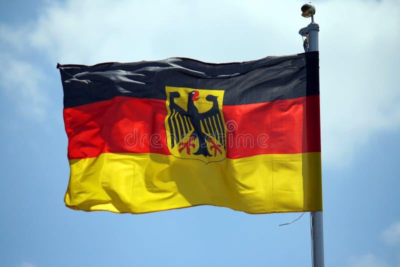 Una bandera alemana imágenes de archivo libres de regalías