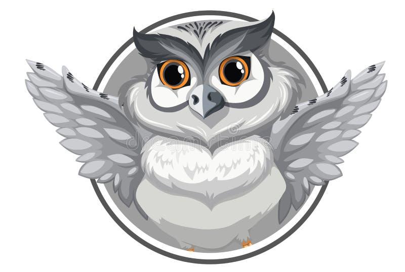 Una bandera gris del búho libre illustration