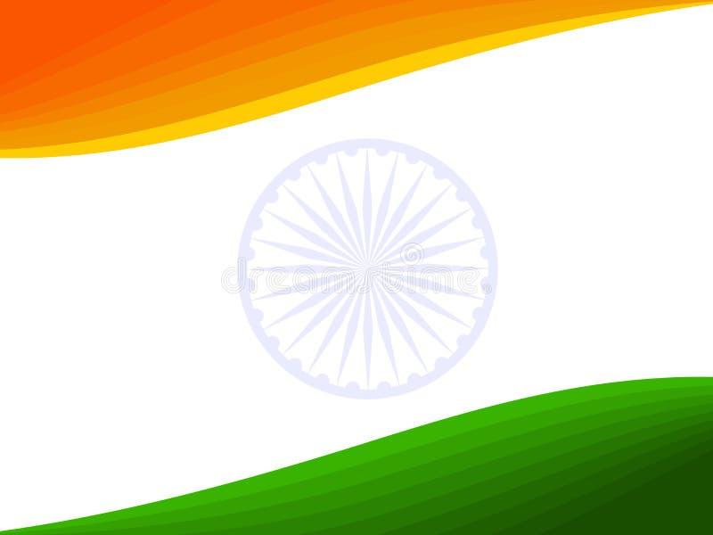 Una bandera nacional india. ilustración del vector