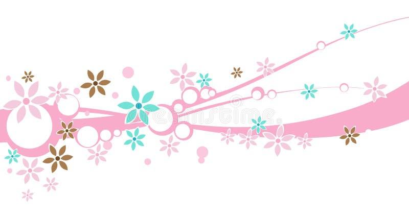 Una bandiera di disegno floreale illustrazione di stock