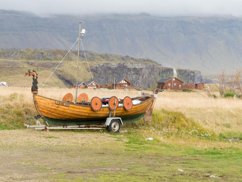 Una barca di Viking immagini stock