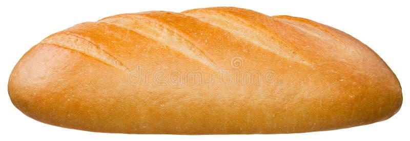 Una barra de pan aislada en el fondo blanco fotografía de archivo