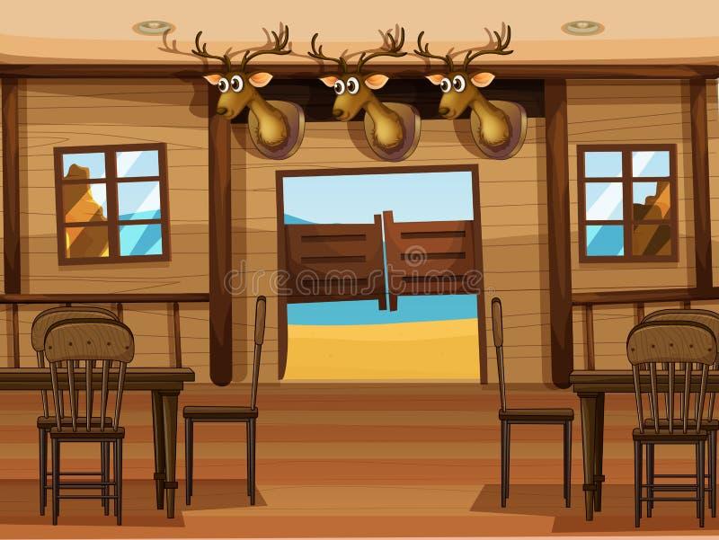 Una barra de salón libre illustration