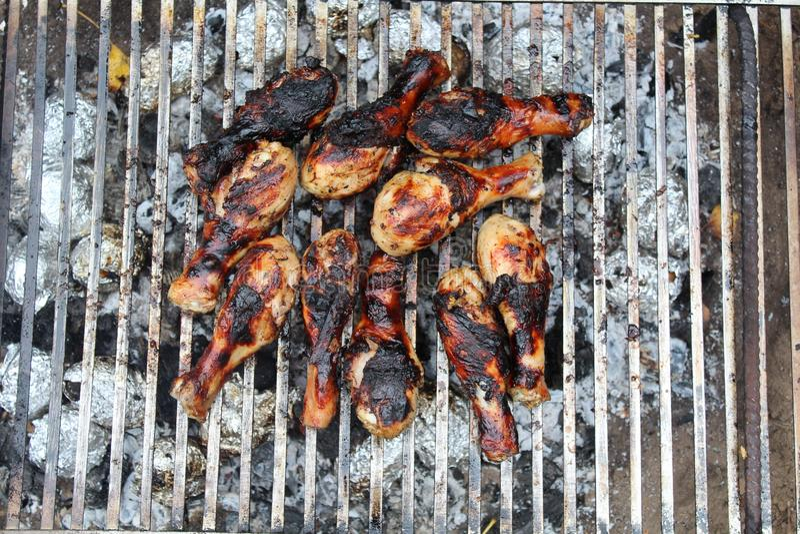 Una bella bacchetta di pollo al palo, appetito di cause immagine stock libera da diritti