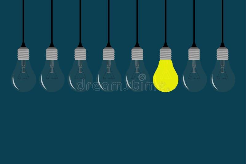 Una bella illustrazione della lampadina fotografia stock