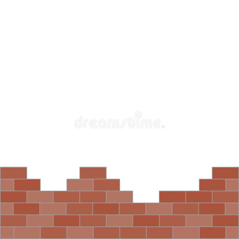 Una bella illustrazione di progettazione di vettore della parete di mattoni royalty illustrazione gratis