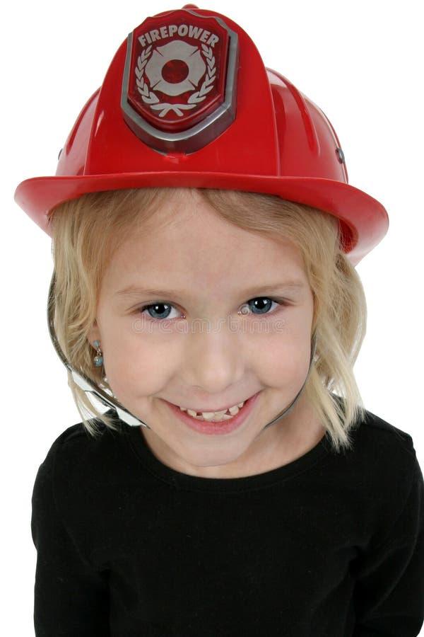 Una bella ragazza di sei anni dentro fotografia stock