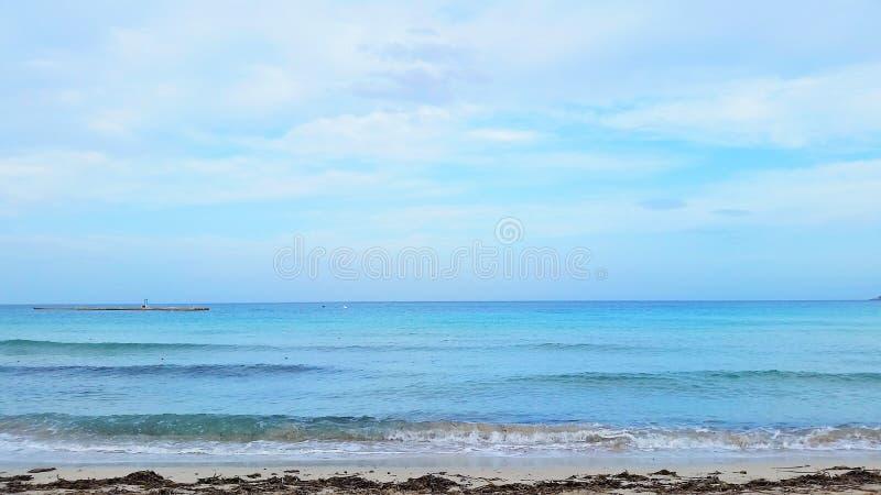 Una bella scena dell'oceano in Europa fotografia stock