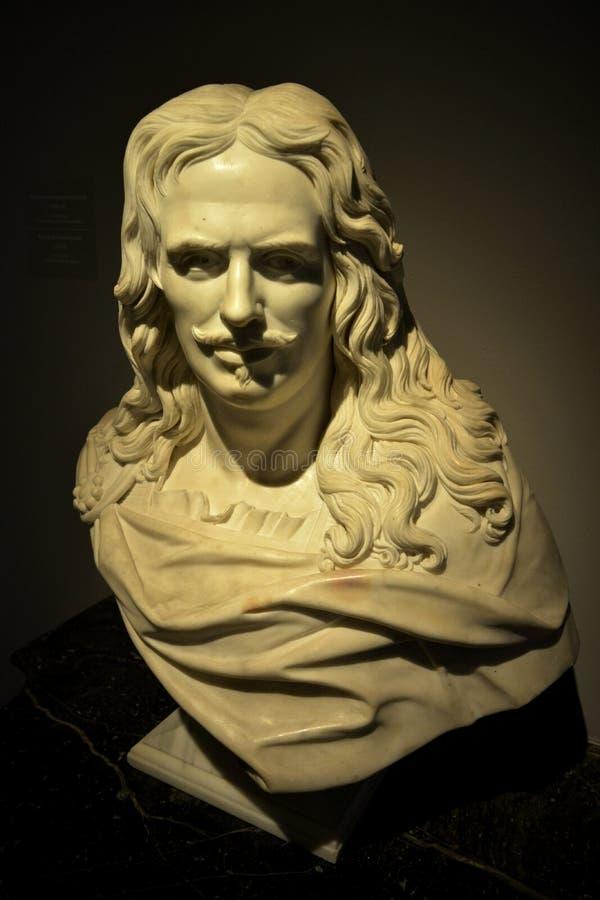 Una bella scultura nel museo del castello reale a Varsavia Lewskiego w Warszawie del ³ di Zamku Krà di muzeum di rzeźba w di PiÄ immagine stock