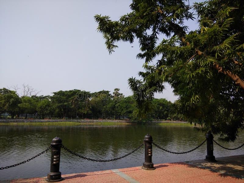 Una bella vista del lago fotografie stock