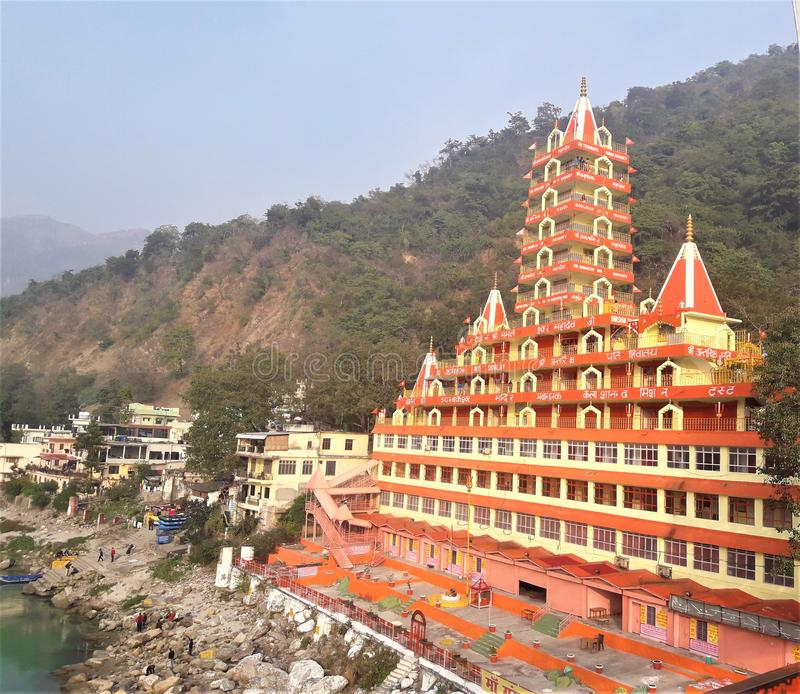 Una bella vista del tempio indù fotografie stock