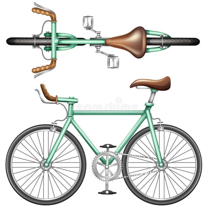Una bici verde ilustración del vector