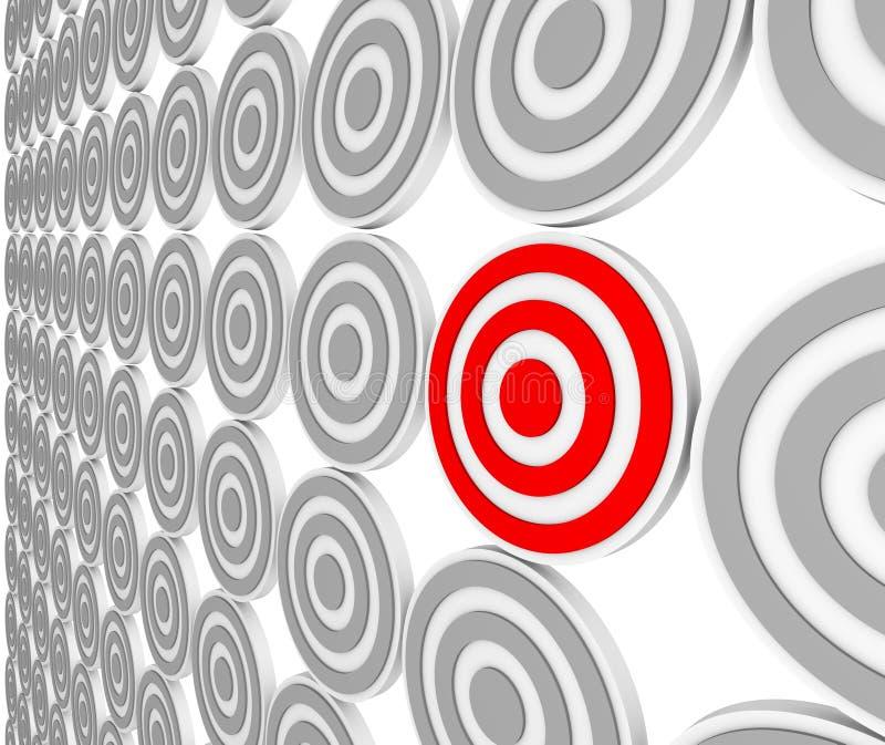 Una blanco roja de la diana - audiencia del mercado muy especializado ilustración del vector