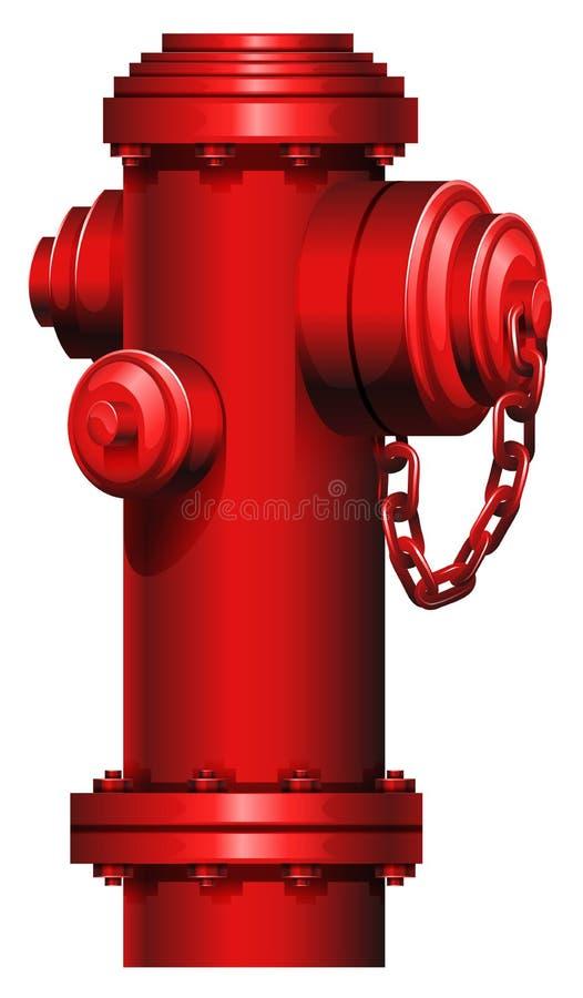 Una boca de riego roja stock de ilustración