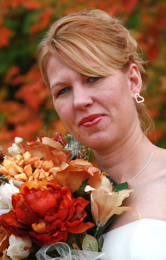 Una boda de la caída fotos de archivo