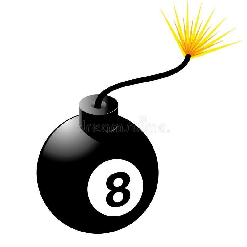 Una bomba delle otto sfere illustrazione vettoriale