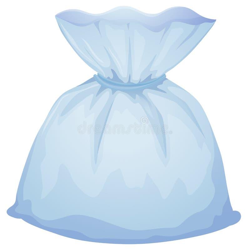 Una borsa blu-chiaro del sacchetto illustrazione vettoriale