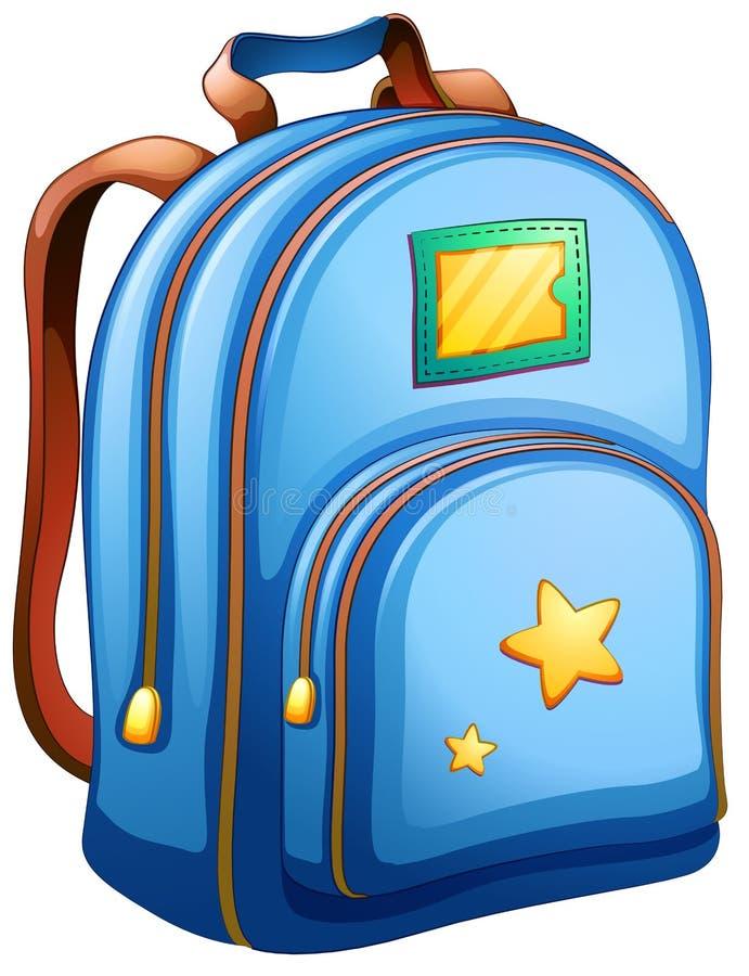 Una borsa di scuola blu illustrazione vettoriale