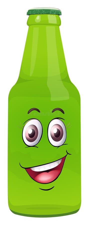 Una botella con la cara libre illustration