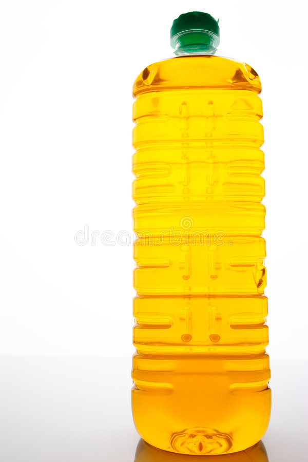 Una botella de aceite de cocina imágenes de archivo libres de regalías