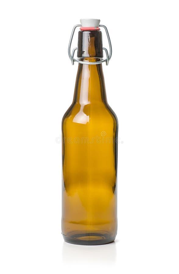 Botella de cerveza del top del oscilación de Brown fotos de archivo libres de regalías