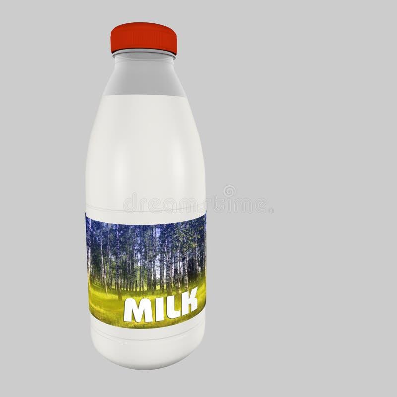 Una botella de leche foto de archivo