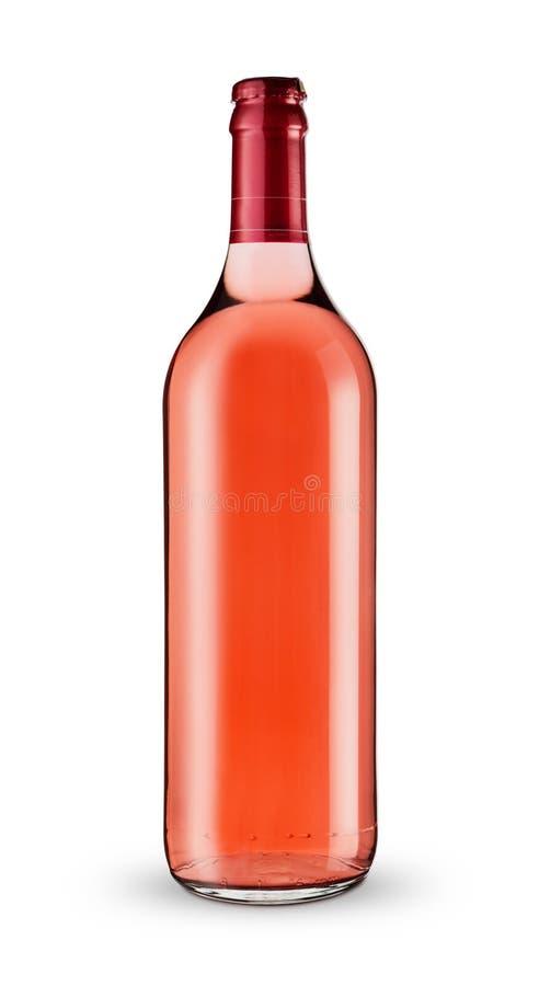 Una botella de vino rosado imagen de archivo libre de regalías