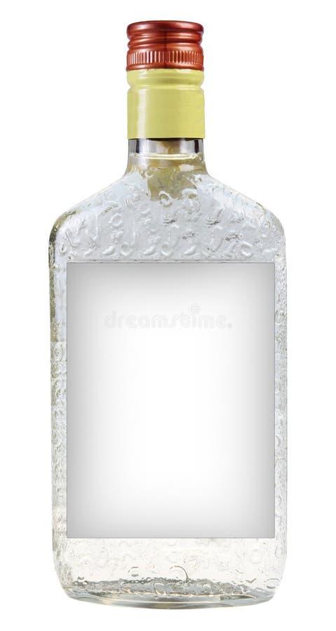 Una botella de vodka imágenes de archivo libres de regalías