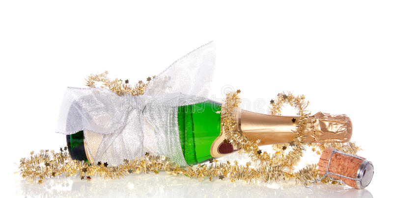 Una botella del champán imagen de archivo