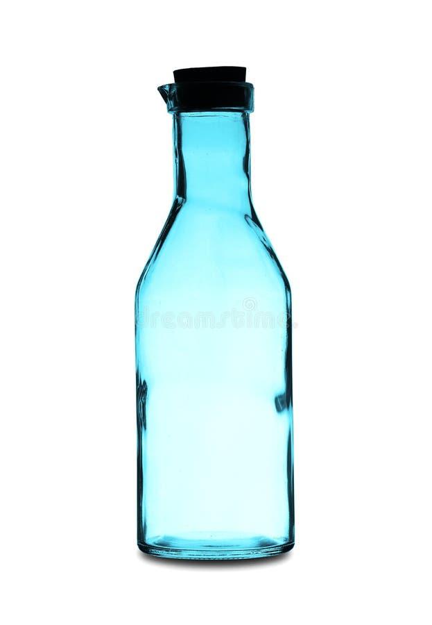 Una botella vacía grande con un tapón fotografía de archivo libre de regalías